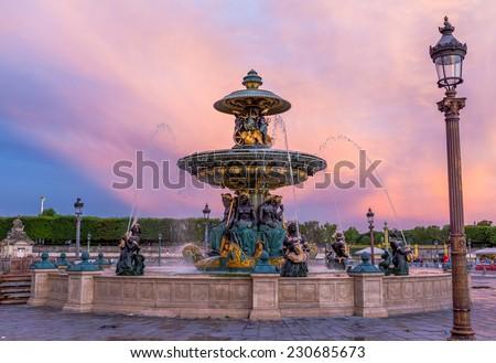 Place de la Concorde,Paris - stock photo
