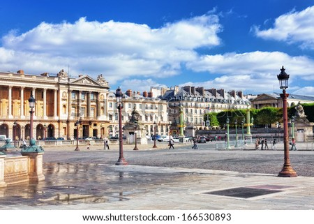 Place de la Concorde , Paris, France. - stock photo