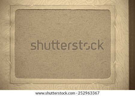 Place for the picture in the old photo album. - stock photo