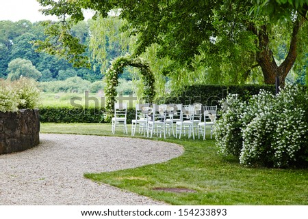 Place for wedding ceremony - stock photo