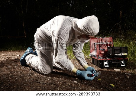Place of crime - stock photo