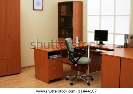 Place of work of the manager at modern office - stock photo