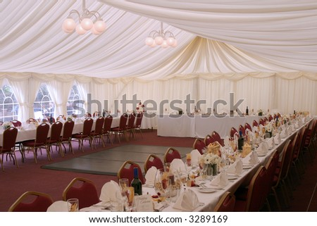 Place setting at wedding reception 3 - stock photo