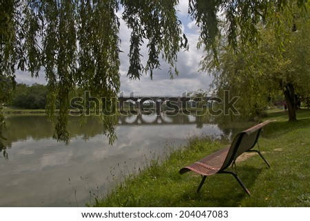 Place to contemplate, France. - stock photo