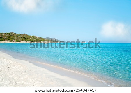 Plage de Saleccia the most beautiful beach of Corsica, France - stock photo