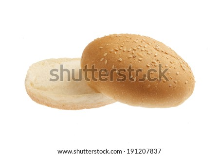 Plain burger bun - stock photo