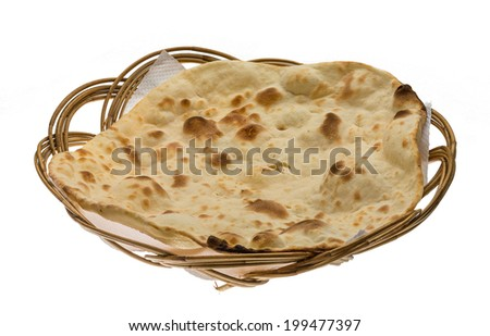 Plain Naan - Indian traditional cuisine - stock photo