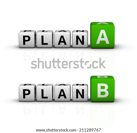 plan A and B icon (green-white crossword series) - stock photo