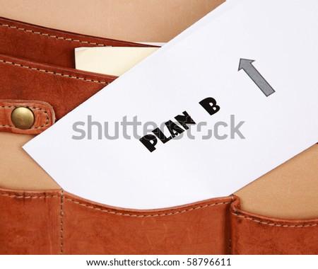 Plan B documents - stock photo
