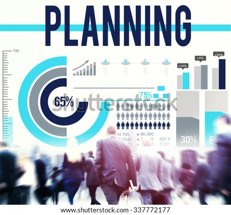 Plan Planning Process Solution Strategy Concept - stock photo