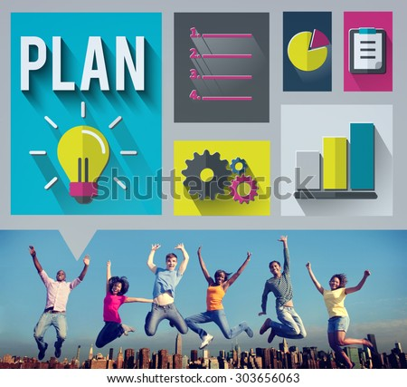Plan Planning Strategy Ideas Business Inspiration Concept - stock photo