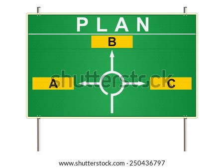 Plan. Traffic sign on a white background. Raster  - stock photo