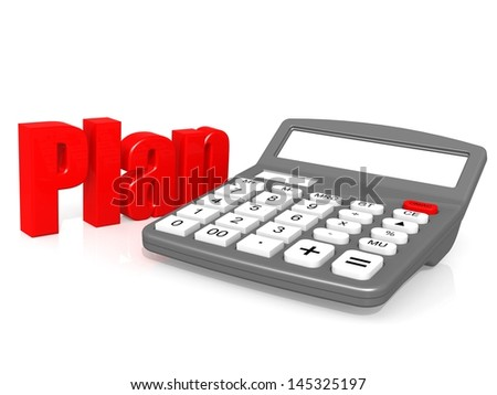 Plan with calculator - stock photo