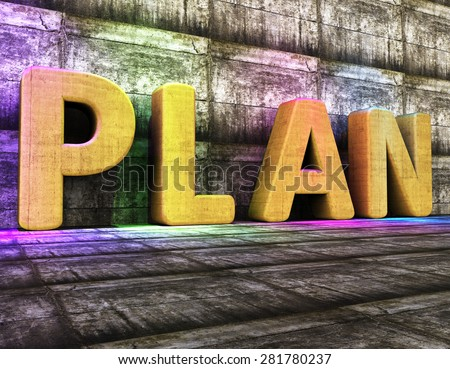 Plan Word Showing Project Management And Idea - stock photo