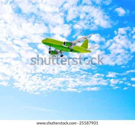 Plane in the skies - stock photo