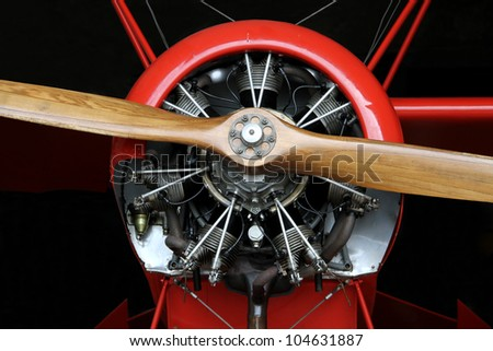 Plane Motor with Propeller - stock photo
