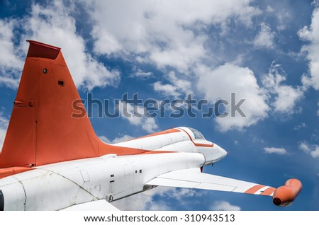 plane on sky - stock photo