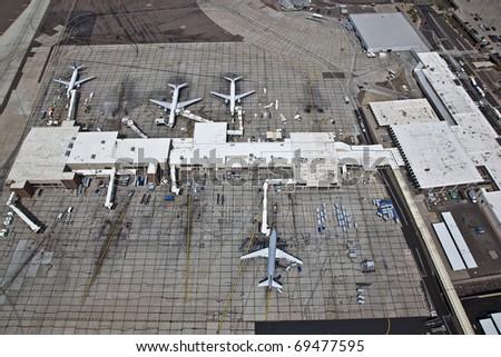Planes loading transport - stock photo