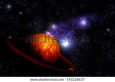 Planet Deep in Space, galaxy and universe. Element of this image furnished by NASA - stock photo