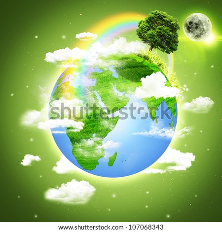 Planet Earth. Abstract environmental backgrounds - stock photo