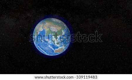 Planet Earth - Asian Continent. Elements of this image furnished by NASA. - stock photo