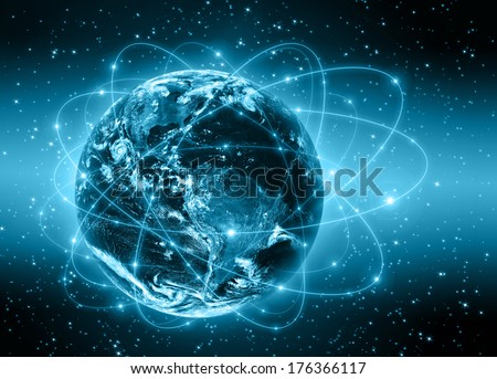 Planet earth. Best Concept of global business from concepts series. (Elements of this image furnished by NASA) - stock photo