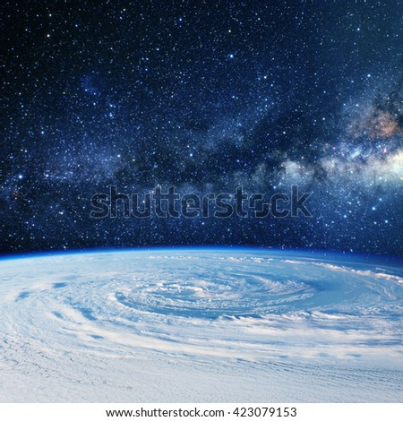 Planet earth clouds. Some elements of this image furnished by NASA - stock photo