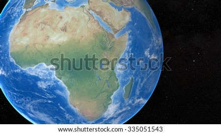 Planet Earth 3D Snapshot of The African Continent. Elements of this image furnished by NASA - stock photo