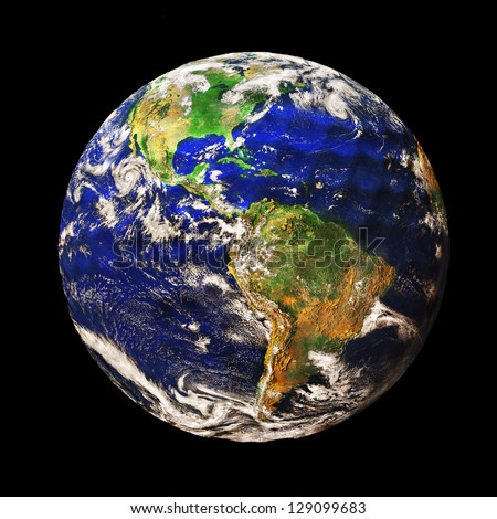 Planet Earth depicted as a Golf Ball (original image of planet Earth is a public domain image from NASA) - stock photo