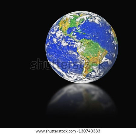 Planet earth.Elements of this image furnished by NASA - stock photo