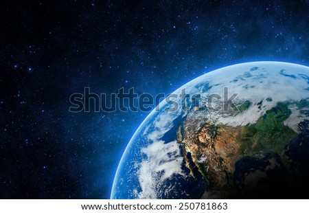 Planet Earth - Elements of this Image Furnished by NASA - stock photo