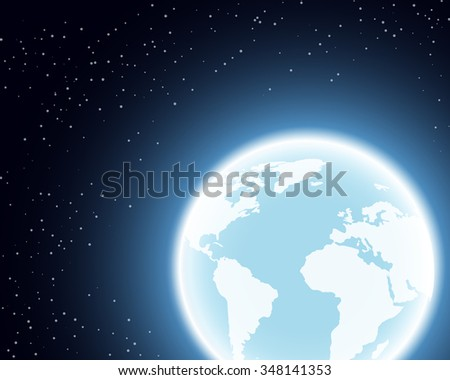 Planet Earth illustration. Globe in the Space. - stock photo