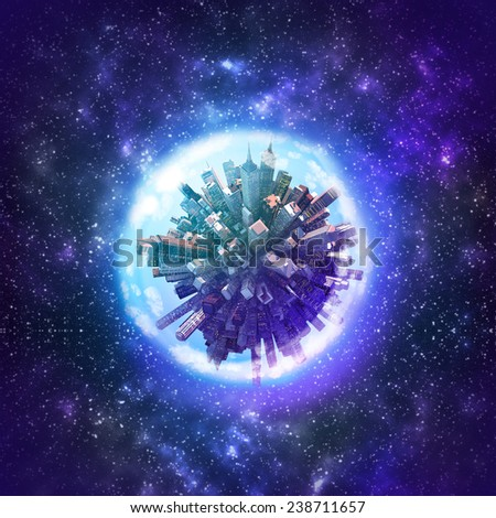 Planet earth in space - stock photo