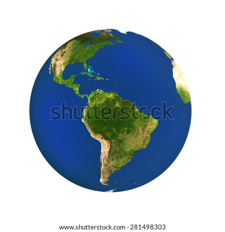 Planet earth isolated - stock photo