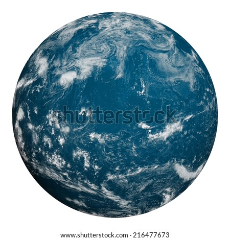 Planet earth. Ocean and clouds. Elements of this image furnished by NASA. - stock photo