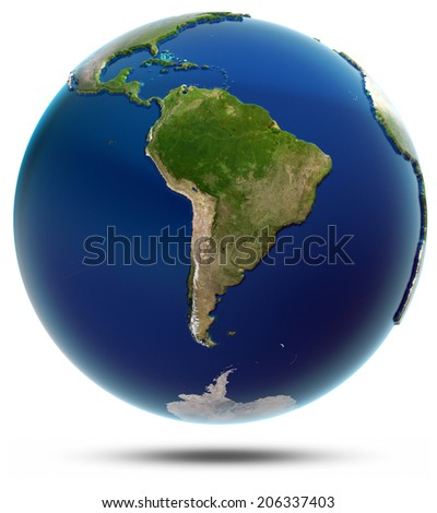 Planet Earth - South America. Elements of this image furnished by NASA - stock photo