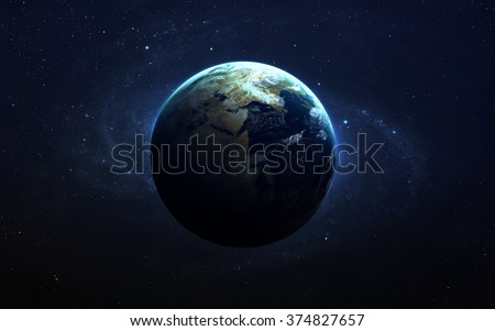 Planet Earth. This image elements furnished by NASA - stock photo