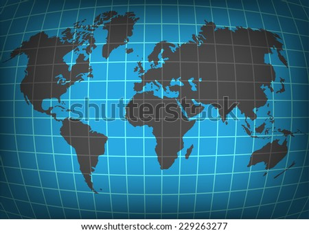 planet earth with continents - stock photo