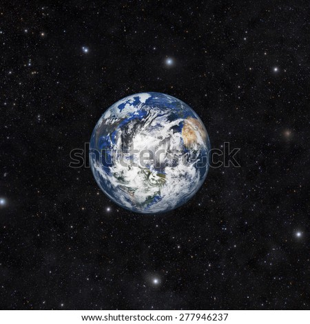 Planet earth with space background Elements of this image furnished by NASA - stock photo