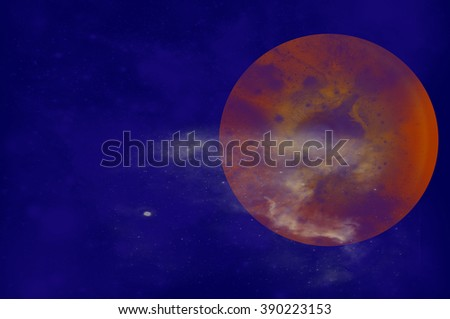 Planet Jupiter - stock photo