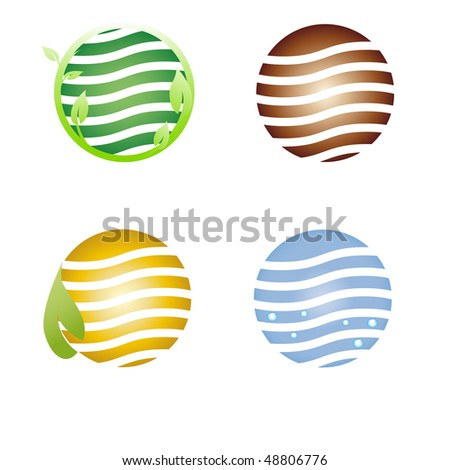 Planet symbol, Earth day - stock photo