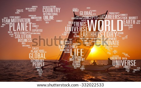 Planet World Earth Universe Global Innovation Concept - stock photo