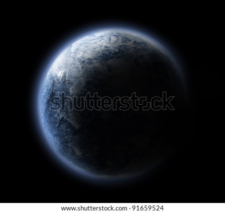 Planets and stars - stock photo