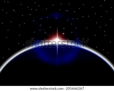 Planets Earth Meaning Solar System And Planetary - stock photo