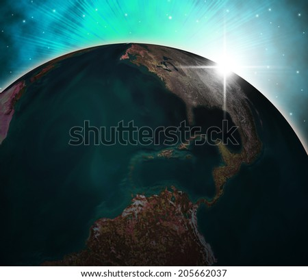 Planets Global Indicating Solar System And Globally - stock photo