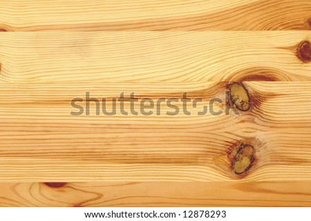 Plank of pine wood - stock photo