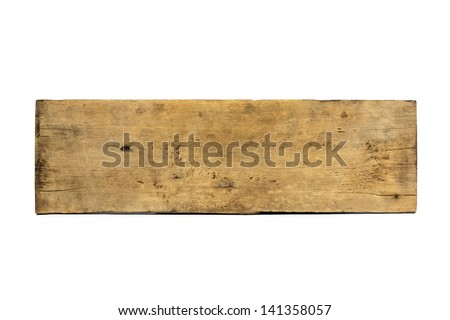 Plank wood isolated on white background - stock photo