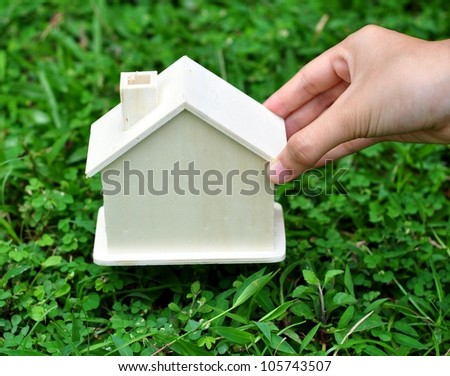 Planning a new house - stock photo