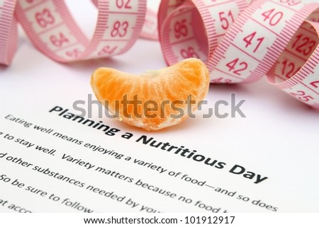 Planning a nutritious day - stock photo