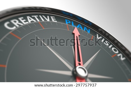Planning business in the compass as a concept - stock photo